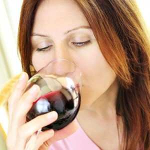 BFB Woman drinking wine