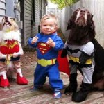 FB Baby and dog superheroes