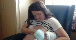 Badass Taylor breastfeeding her baby.